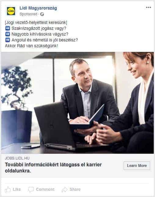 Lidl Facebook Álláshirdetes